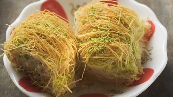 Rezept: Fadenteig-Dessert auf türkische Art (Kadayif)