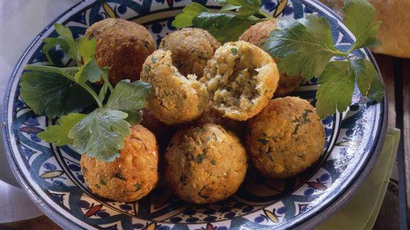 Rezept: Falafel (Kichererbsenbällchen)