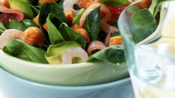 Rezept: Fedsalat mit Shrimps