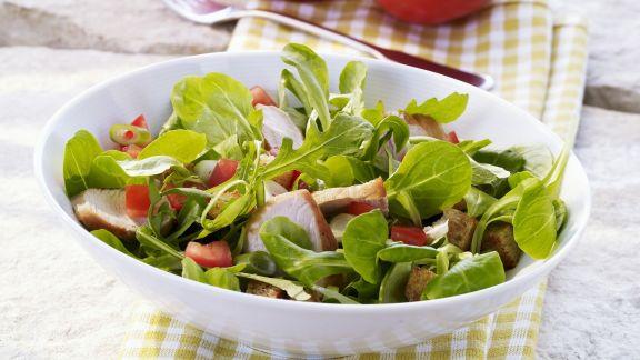 Rezept: Feldsalat mit Putenbrust