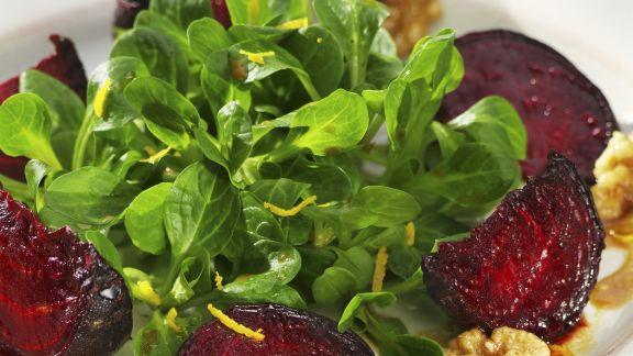 Rezept: Feldsalat mit Roter Bete