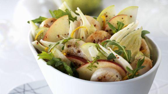 Rezept: Fenchel-Apfel-Salat mit Jakobsmuscheln