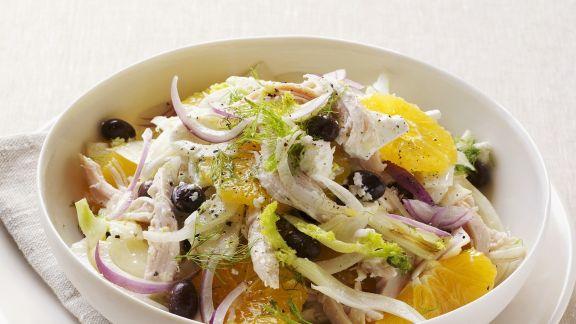 Rezept: Fenchel-Hähnchen-Salat mit Orange