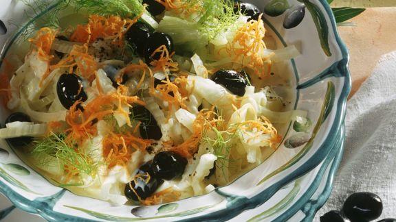 Rezept: Fenchelsalat mit Möhren