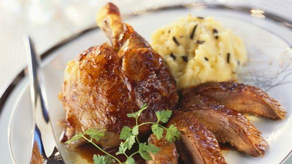 Rezept: Festlicher Gänsebraten mit Trüffel-Kartoffelpüree