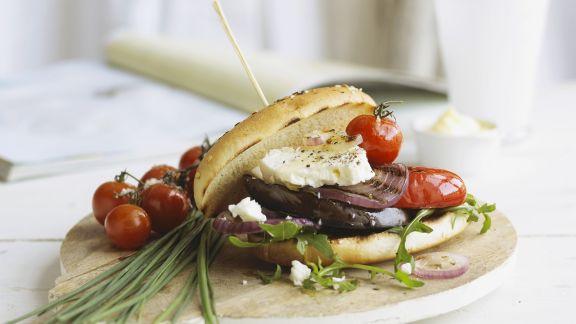 Rezept: Feta-Gemüse-Sandwich