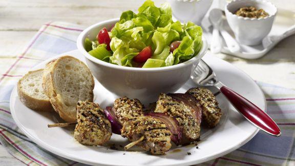Rezept: Filet-Spieße in Dijon-Senf-Marinade