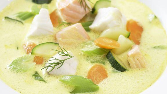 Rezept: Fisch-Curry-Suppe