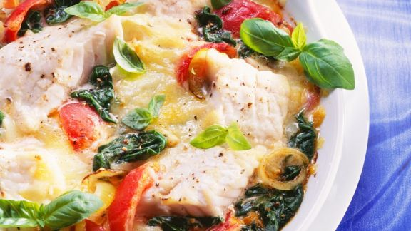 Rezept: Fisch-Gemüsegratin