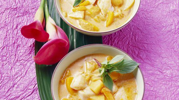 Rezept: Fisch-Kürbis-Curry mit Kartoffeln
