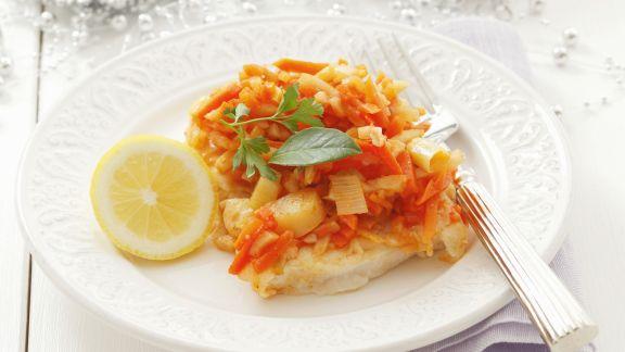 Rezept: Fisch mit gemischtem Gemüse