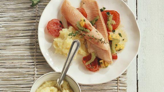 Rezept: Fisch mit Kartoffelpüree