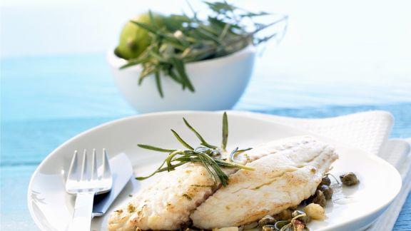Rezept: Fisch mit Limetten-Kapern-Butter