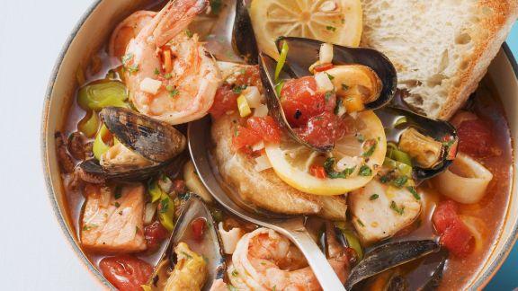 Rezept: Fisch-Muschel-Eintopf