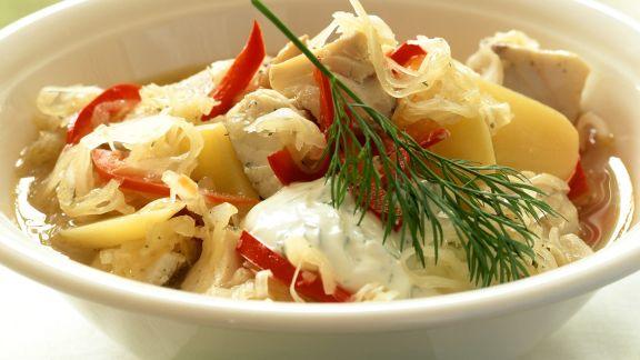 Rezept: Fisch-Sauerkraut-Suppe