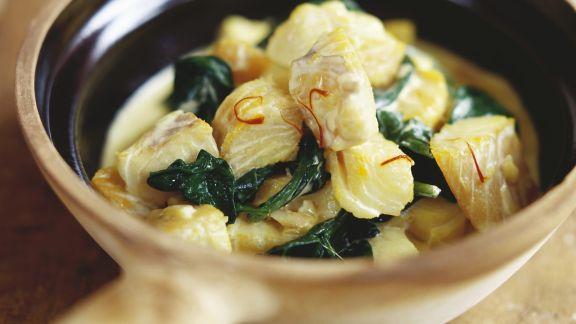 Rezept: Fisch-Spinat-Topf