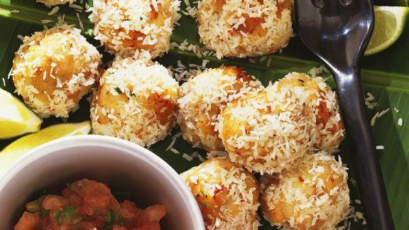 Rezept: Fischbällchen mit Kokosraspel
