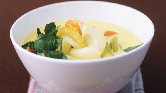 Rezept: Fischeintopf mit Currysauce