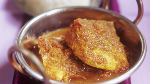Rezept: Fischfilet mit Madras-Curry