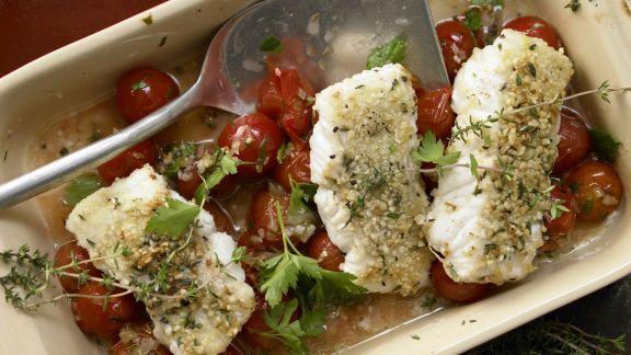 Fischfilet mit Mandelkruste Rezept