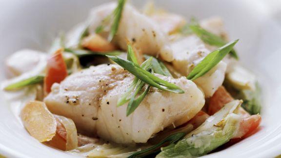 Rezept: Fischpfanne mit Gemüse
