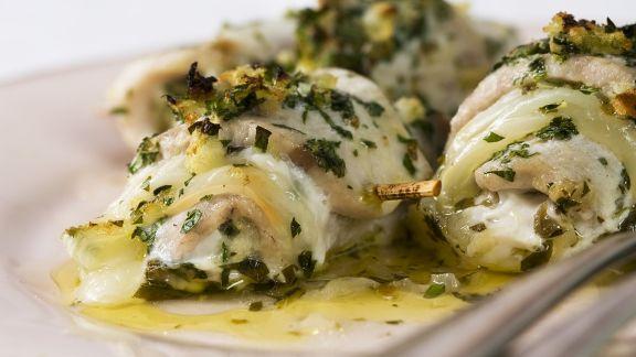 Rezept: Fischröllchen mit Kräuterfüllung