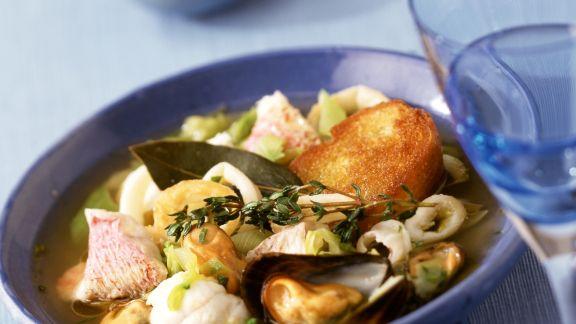 Rezept: Fischsuppe auf mediterrane Art
