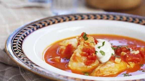 Rezept: Fischsuppe mit Knoblauchpaste