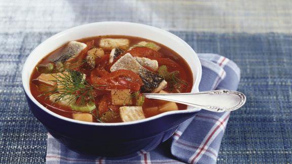 Rezept: Fischsuppe mit Paprika