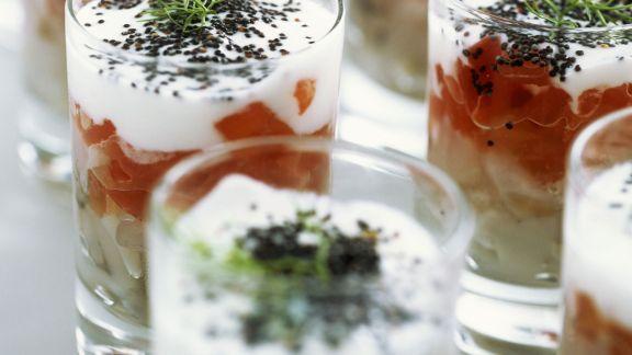 Rezept: Fischtatar mit Tomate und Joghurt