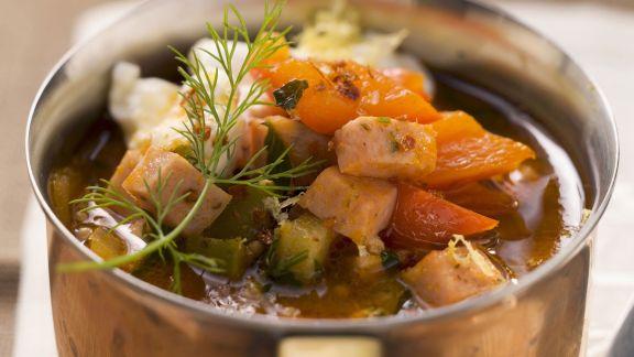 Rezept: Fleisch-Gemüse-Topf (Soljanka)