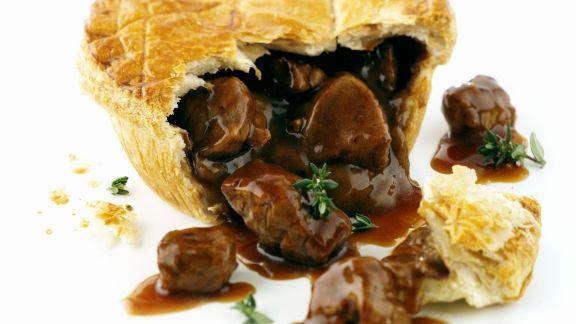 Rezept: Fleischpastete auf englische Art (Steak Pie)