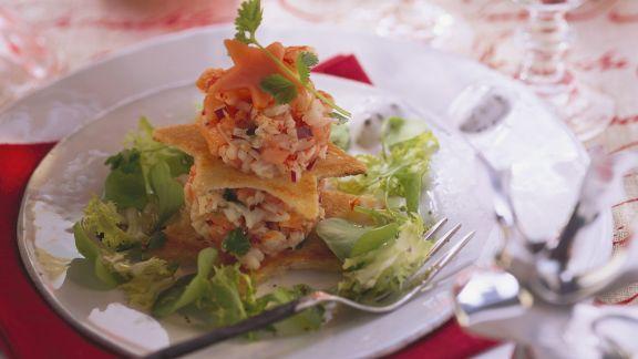 Rezept: Flusskrebs-Papaya-Salat mit Limette