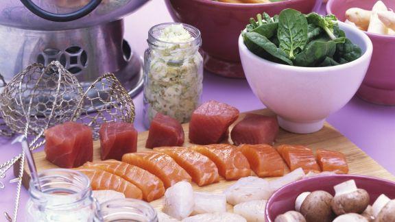 Rezept: Fondue mit Fisch