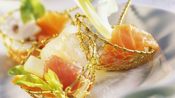 Rezept: Fondue mit Gemüse und Fisch