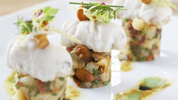 Rezept: Forelle und Kartoffelbrei mit Pfifferlingen