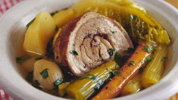 Rezept: Französischer Eintopf mit Schweinebauch (Pot au feu)
