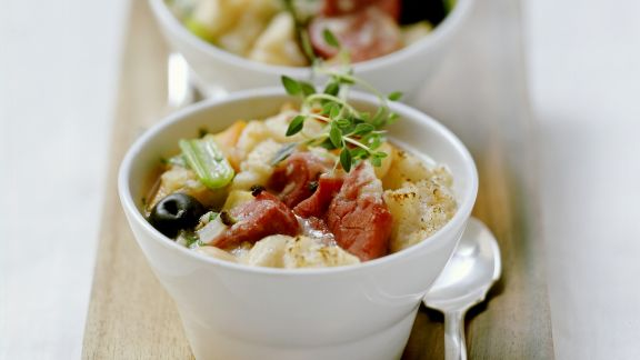 Rezept: Französischer Gemüse-Fleisch-Topf mit Eisbein