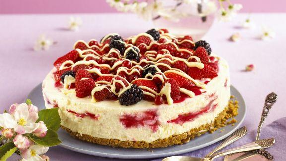 Rezept: Frischkäse-Beeren-Torte