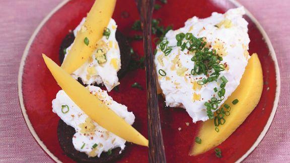 Rezept: Frischkäseaufstrich mit Mango