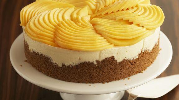 Rezept: Frischkäsetorte mit Mango