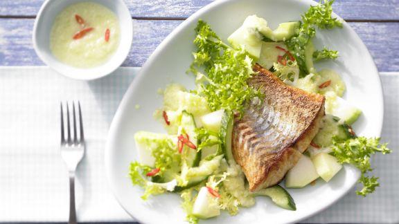 Rezept: Frisée-Melonen-Salat