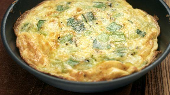 Rezept: Frittata mit Lauch und Käse