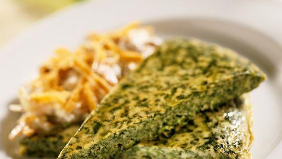 Rezept: Frittata mit Spinat