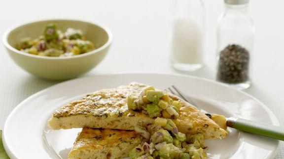 Rezept: Frittata mit Zucchini und Avocadosoße