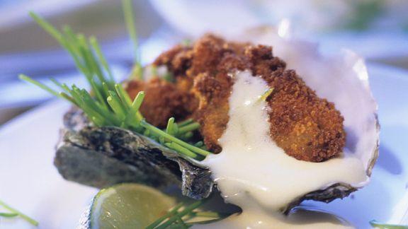 Rezept: Frittierte Austern mit Hollandaise
