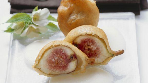 Rezept: Frittierte Feigen mit Prosecco-Schaum