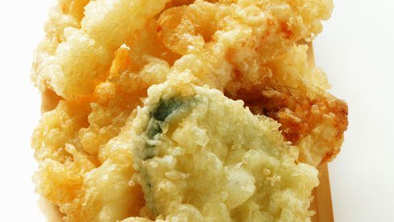 Rezept: Frittierte Meeresfrüchte und Gemüse (Tempura)