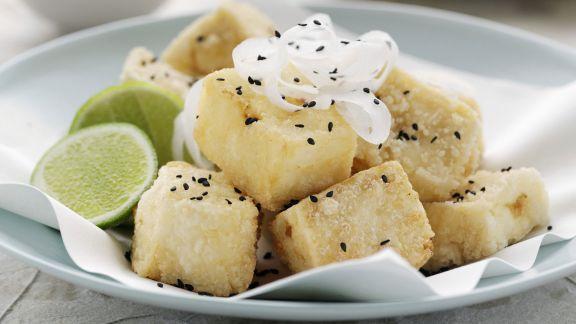 Rezept: Frittierter Tofu mit Daikon
