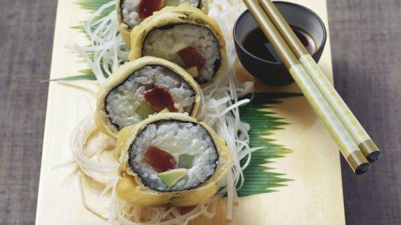 Rezept: Frittiertes Thunfisch-Maki